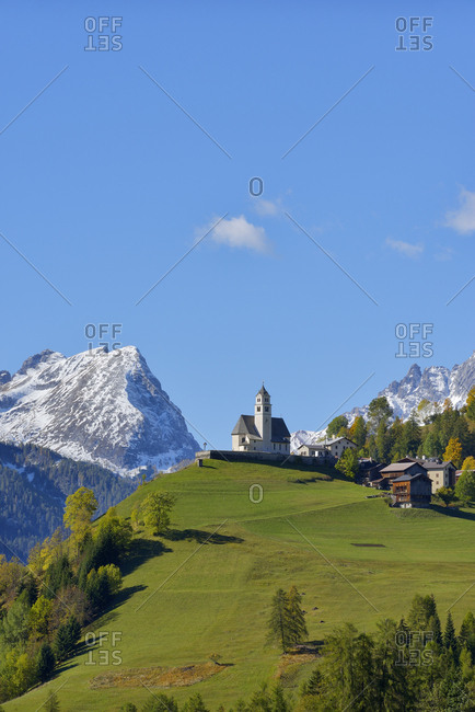 Italy- Veneto- Belluno Province- Colle Santa Lucia- Church