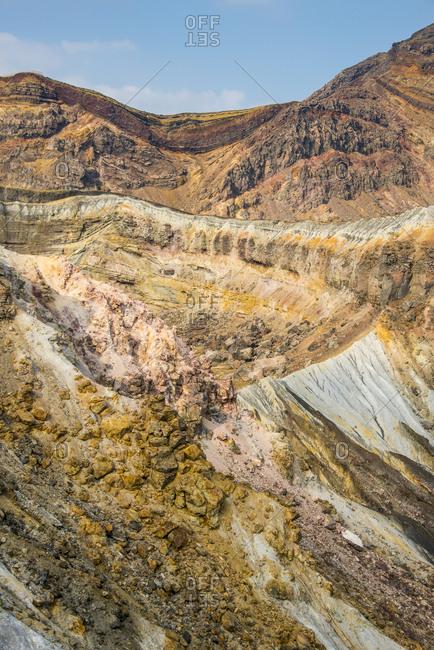 Japan- Kyushu- Mount Aso- Mount Naka- crater rim