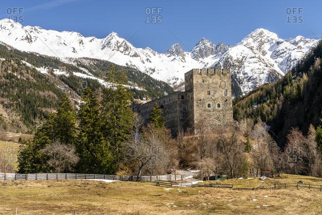 Austria- Tyrol- Oetztal Alps- Kauner Valley- Berneck Castle