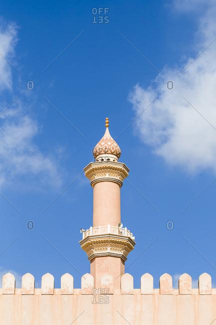 View of Nizwa mosque from Nizwa Fort- Nizwa- Oman