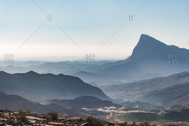 View over Jebel Shams- Oman