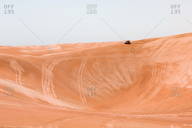 Sultanate Of Oman- Wahiba Sands- Dune bashing in an SUV