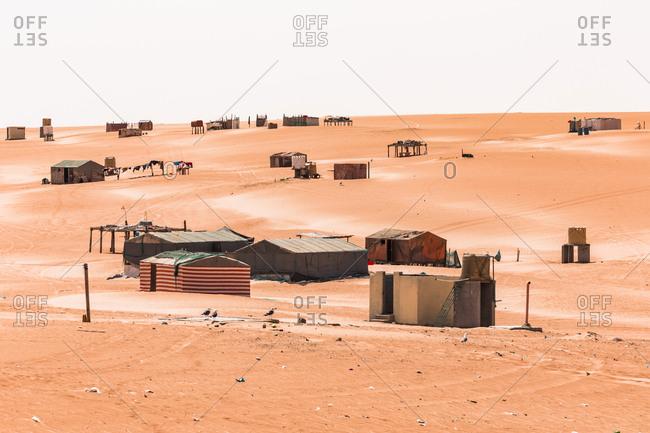 Bedouin tent camp in the desert- Wahiba Sands- Oman