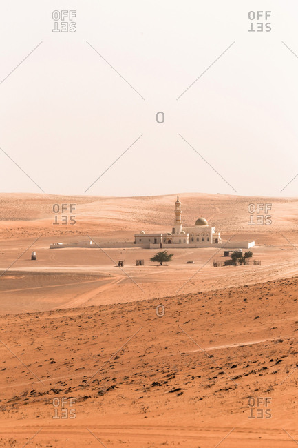 Mosque in the desert- Wahiba Sands- Oman