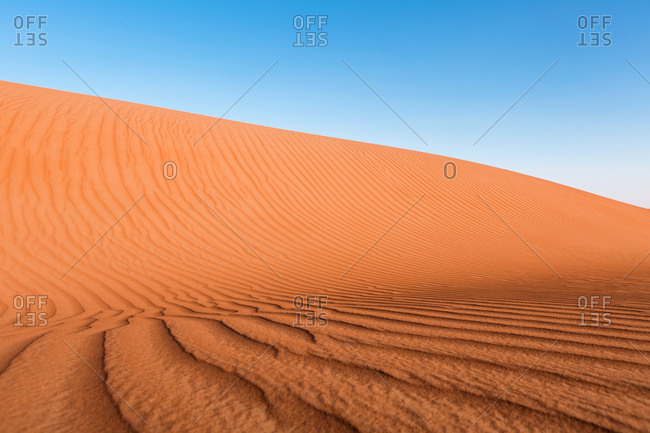 Sultanate Of Oman- Wahiba Sands- dunes in the desert