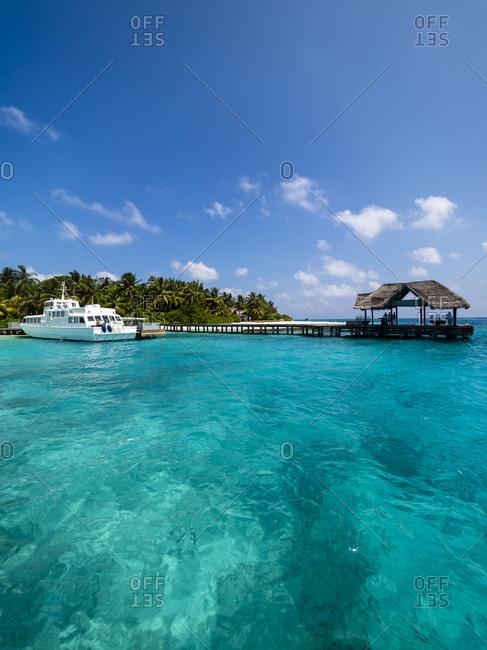 Maledives- Ross Atoll- jetty