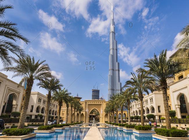 United Arab Emirates- Dubai- Burj Khalifa and Souq Al Bahar