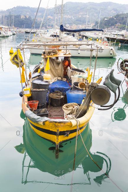 Italy- Liguria- Cinque Terre- fishing boat