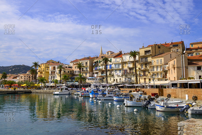 France- Corsica- Calvi- boats in the harbor