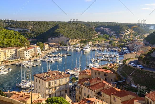 France- Corsica- Bonifacio- harbor