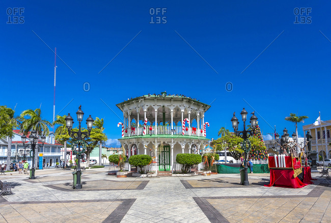 Dominican Republic- Puerto Plata- Independence Square- Central Park- pavilion