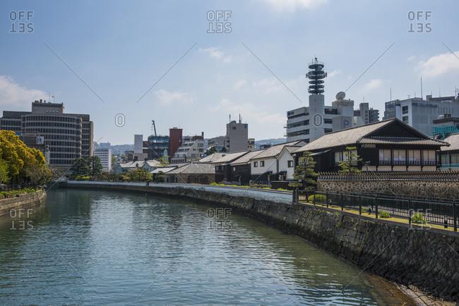 Japan- Nagasaki- Colonial buildings on Dejima man made island in the port of Nagasaki
