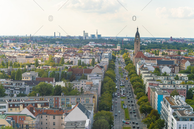 Germany- Berlin-Charlottenburg- view to the city from above