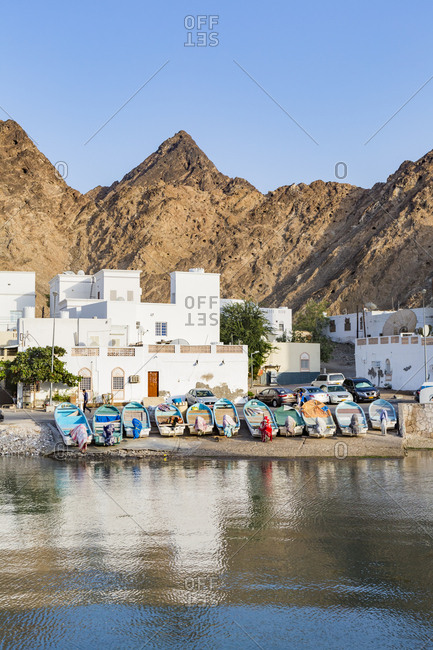 Sultanate Of Oman- Matrah- Fishing boats at the sea