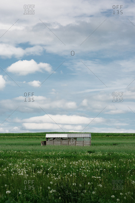 Small structure in rural field