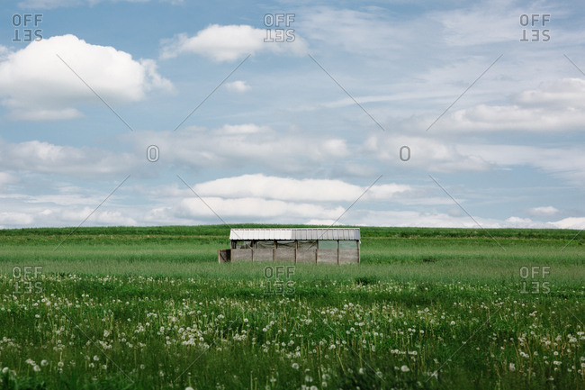 Small structure in rural setting
