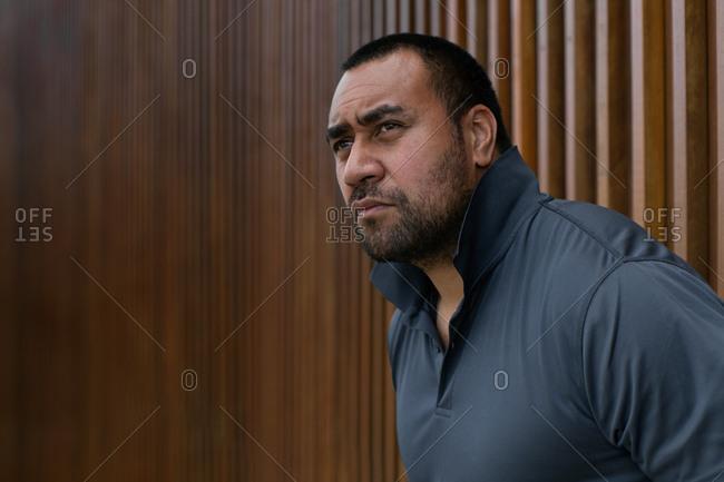 Portrait of a tough guy