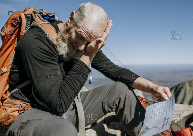 Retired Appalachian Trail hiker gets emotional at the end of his hike
