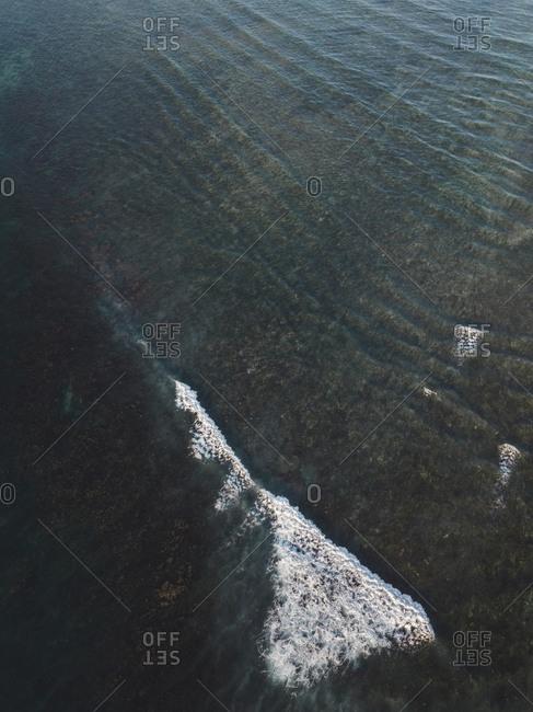 Aerial view of ocean wave, Sumbawa, Indonesia