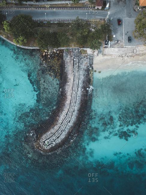 Aerial view of pier, Nusa Penida, Bali, Indonesia