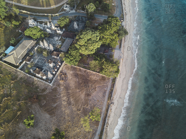 View at Balinese temple from above, Nusa Penida, Bali, Indonesia