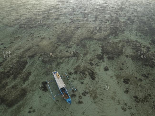 Aerial view of ocean, Sumbawa, Indonesia