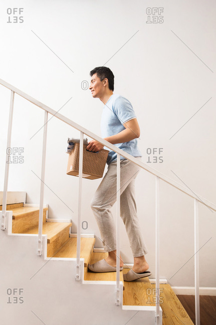 Young men doing housework