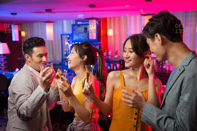 The young party at the bar