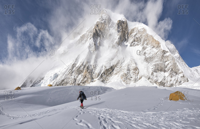 Nepal- Solo Khumbu- Everest- Mountaineer at Western Cwm