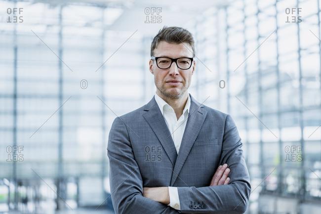 Portrait of confident businessman with glasses