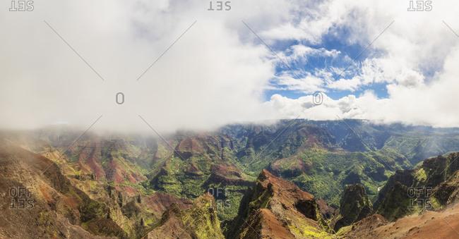 USA- Hawaii- Kauai- Waimea Canyon State Park- view over Waimea Canyon