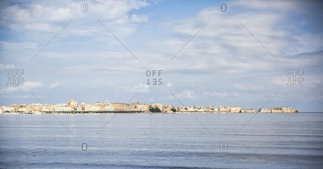 Italy- Sicily- Ortygia- panorama of Syracuse