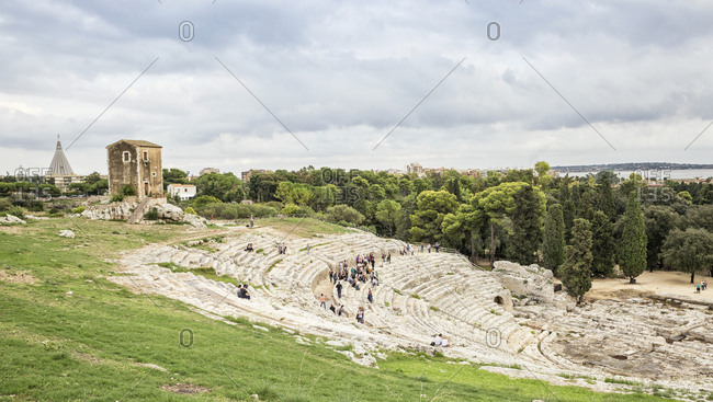 Italy- Sicily- Syracuse- greek theatre