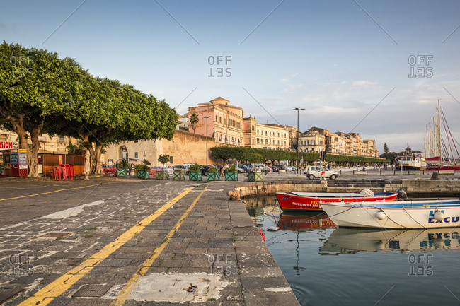 October 5, 2017: Italy- Sicily- Ortygia- Syracuse- harbor