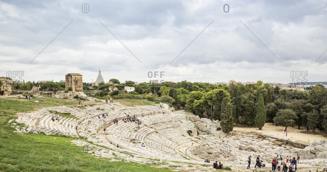 October 5, 2017: Italy- Sicily- Syracuse- greek theatre