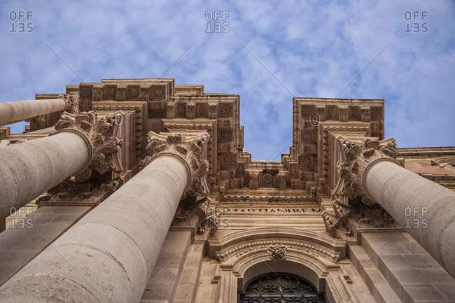 Italy- Sicily- Ortygia- Syracuse- cathedral of Syracuse- cathedral Santa Maria delle Colonne