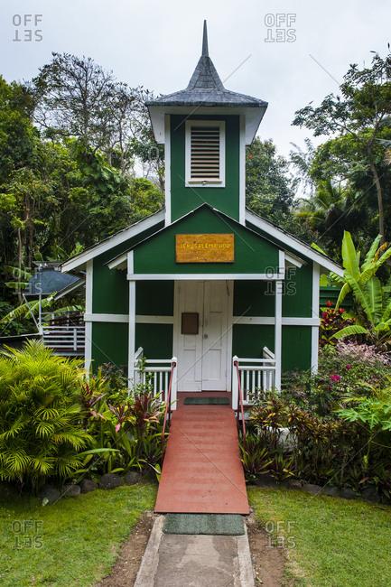 Hawaii- island of Molokai- Halawa Bay- tiny Ierusalema Hou church