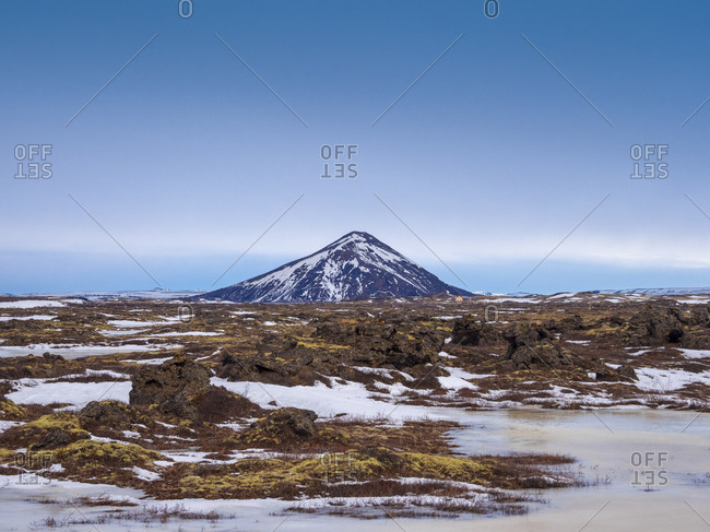 Iceland- Snowy landscape- early morning in the north east