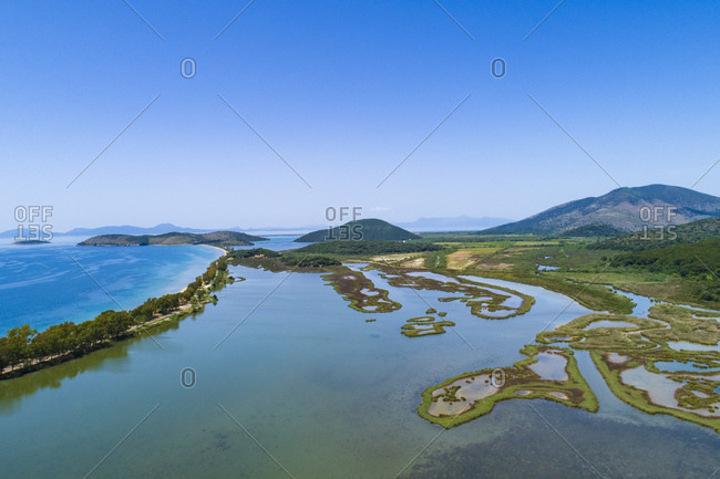 Greece- Igoumenitsa- aerial view of Ormos Valtou