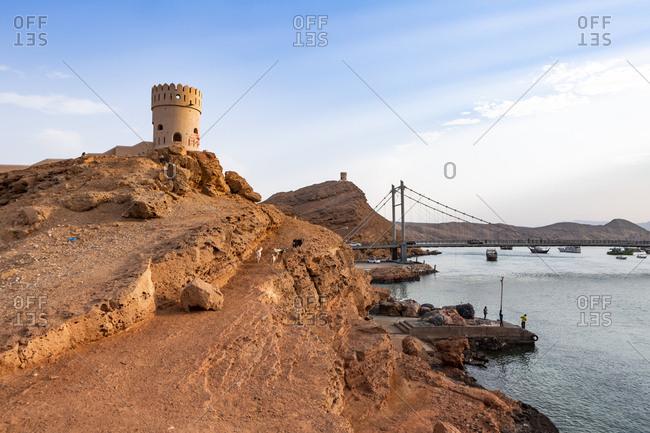 Watch tower of Ayjah Castle- Sur- Oman