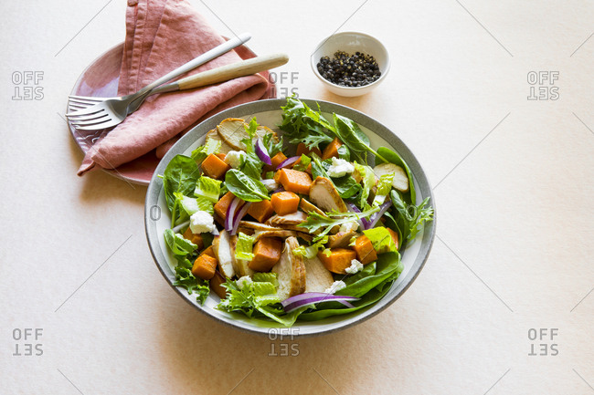 Chicken Salad with Sweet Potato