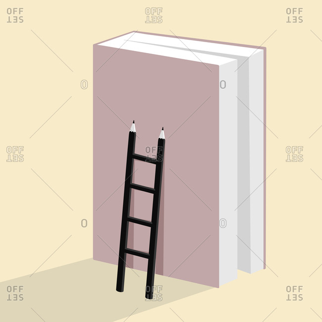 Book and ladder