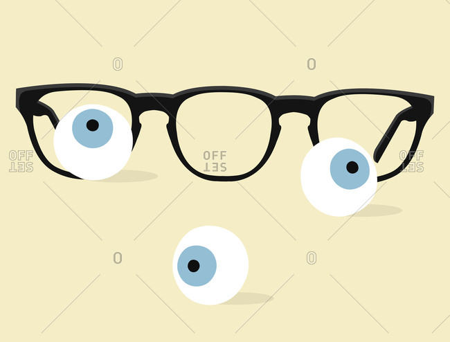 Glasses and eyeballs