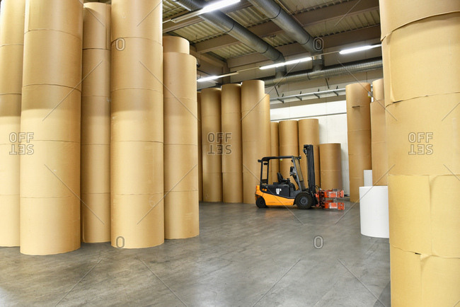 Printing shop: paper rolls