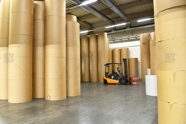 Printing shop: paper rolls