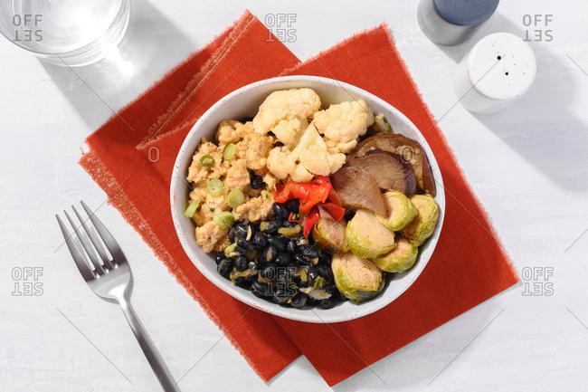 Pineapple black bean vegetable bowl