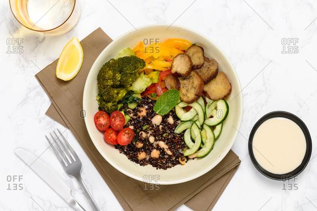 Broccoli and quinoa tabbouleh