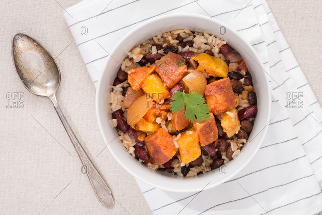 Sweet potato chili bowl
