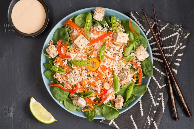Thai snap pea salad - Offset