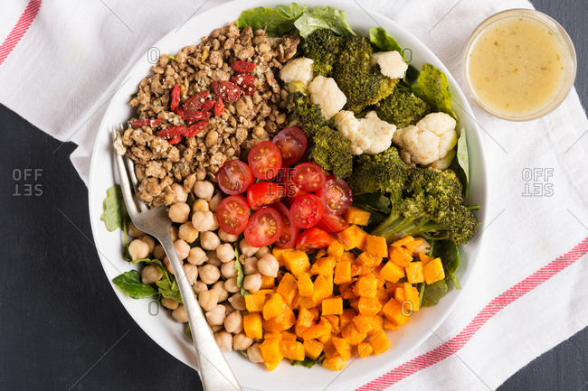 Curried roasted vegetable plate - Offset